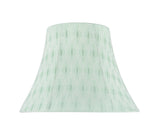 "# 70099-21 One-Light Plug-In Swag Pendant Light Conversion Kit with Transitional Bell Fabric Lamp Shade, Light Green, 13"" width"