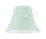 "# 30099 Transitional Bell Shaped Spider Construction Lamp Shade in Light Green, 13"" wide (7"" x 13"" x 9 1/2"")"