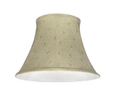 "# 30100 Transitional Bell Shape Spider Construction Lamp Shade in Camel, 13"" wide (7"" x 13"" x 9 1/2"")"