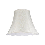 "# 30101 Transitional Bell Shape Spider Construction Lamp Shade in Off White Textured Fabric, 14"" wide (7"" x 14"" x 11 1/2"")"