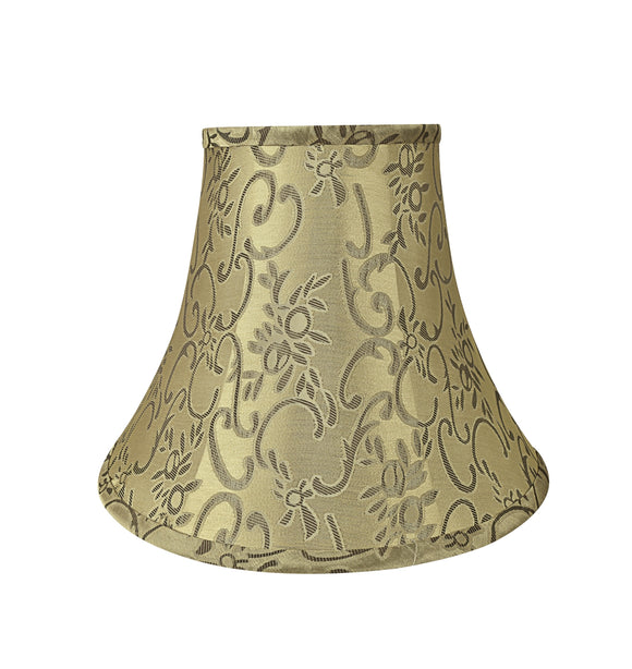 # 30166 Transitional Bell Shape Spider Construction Lamp Shade in Brown, 12