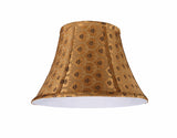"# 30182 Transitional Bell Shape Spider Construction Lamp Shade in Pumpkin Gold Textured Fabric, 17"" wide (8"" x 17"" x 12"")"
