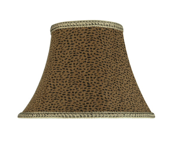 # 30212 Transitional Bell Shape Spider Construction Lamp Shade in Leopard, 13
