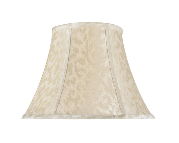 "# 30213 Transitional Bell Shaped Spider Construction Lamp Shade in Off-White, 13"" wide (7"" x 13"" x 9 1/2"")"