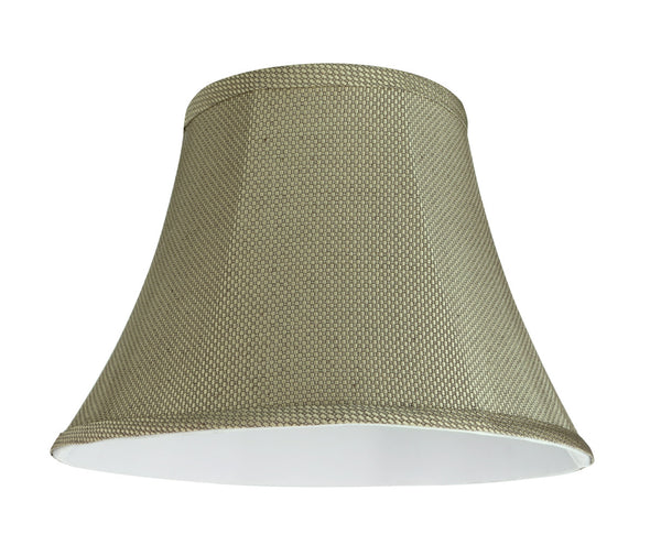 "# 30214 Transitional Bell Shape Spider Construction Lamp Shade in Light Beige, 13"" wide (7"" x 13"" x 9 1/2"")"
