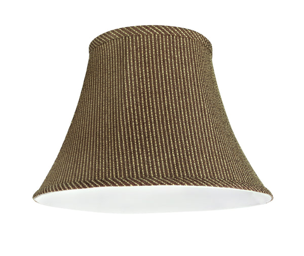 "# 30215 Transitional Bell Shape Spider Construction Lamp Shade in Brown, 13"" wide (7"" x 13"" x 9 1/2"")"