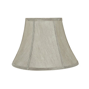 "# 30218 Transitional Bell Shaped Spider Construction Lamp Shade in Silver Grey, 13"" wide (7"" x 13"" x 9 1/2"")"