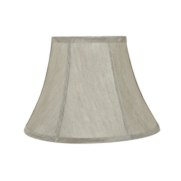 # 30218 Transitional Bell Shaped Spider Construction Lamp Shade in Silver Grey, 13