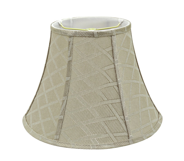 "# 30222 Transitional Bell Shaped Spider Construction Lamp Shade in Off White, 13"" wide (7"" x 13"" x 9 1/2"")"