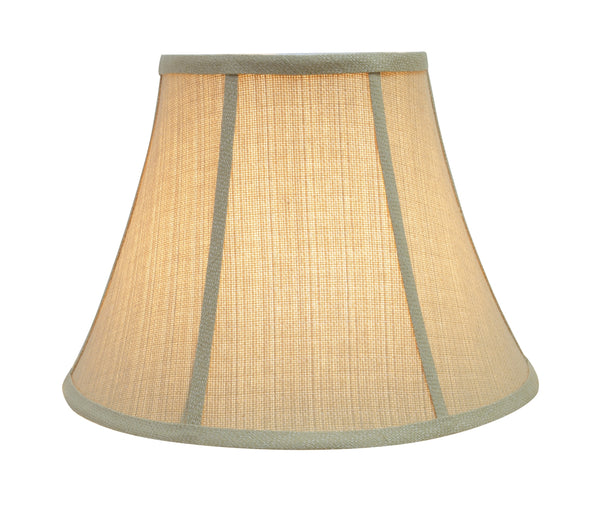 "# 30223 Transitional Bell Shaped Spider Construction Lamp Shade in Beige, 13"" wide (7"" x 13"" x 9 1/2"")"