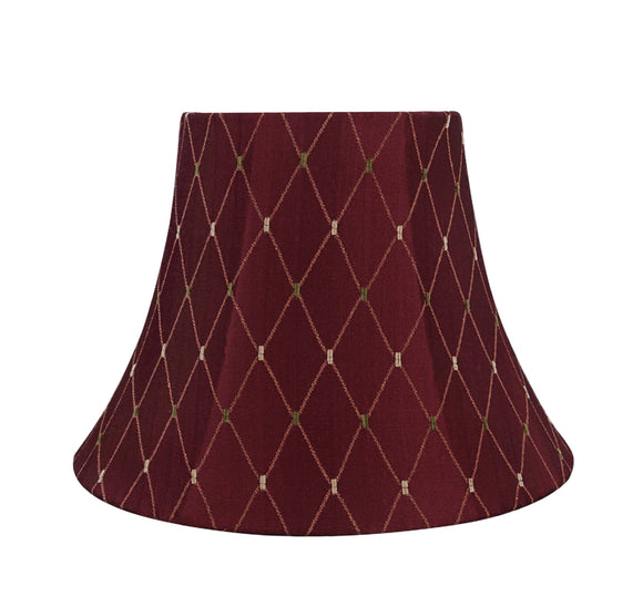 # 30228 Transitional Bell Shaped Spider Construction Lamp Shade in Burgundy, 13