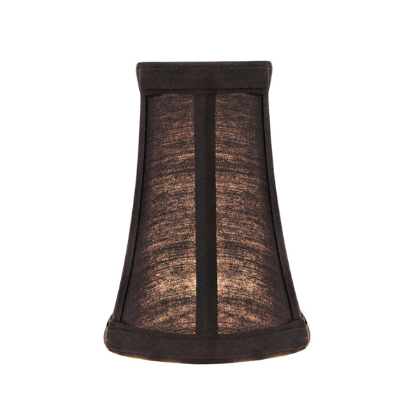 "# 30244-X Small Bell Shape Chandelier Clip-On Lamp Shade Set of 2, 5, 6,and 9, Transitional Design in Black, 4"" bottom width (2 1/2"" x 4"" x 5"" )"