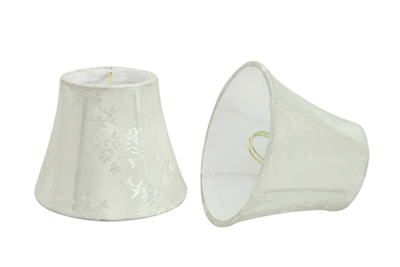 # 30272-X Small Bell Shape Chandelier Clip-On Lamp Shade Set of 2, 5, 6,and 9, Transitional Design in Ivory, 5
