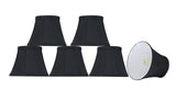 "# 30275-X Small Bell Shape Chandelier Clip-On Lamp Shade Set of 2, 5, 6,and 9, Transitional Design in Black, 5"" bottom width (3"" x 5"" x 4"" )"