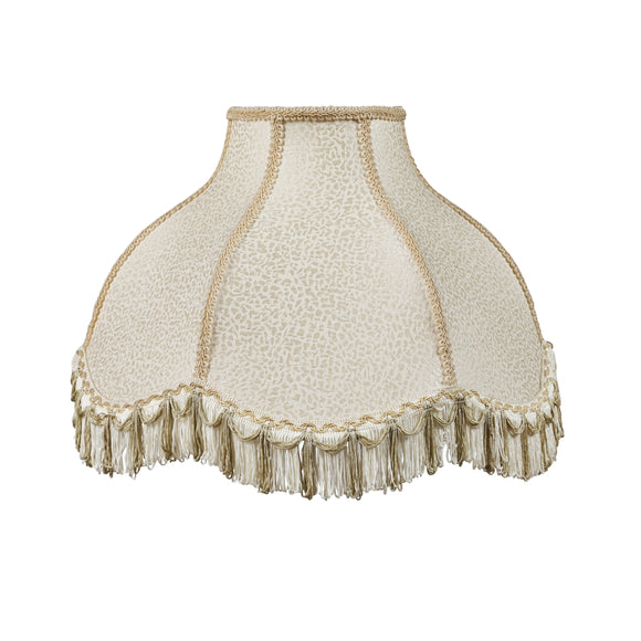 # 30303 Transitional Scallop Bell Shape Spider Construction Lamp Shade in Cream, 17