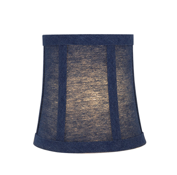 "# 30361-X Small Bell Shape Chandelier Clip-On Lamp Shade Set of 2, 5, 6,and 9, Transitional Design in Washing Blue, 5"" bottom width (4"" x 5"" x 5"")"