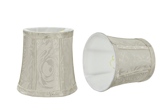 # 30363-X Small Bell Shape Chandelier Clip-On Lamp Shade Set of 2, 5, 6,and 9, Transitional Design in Off White, 5