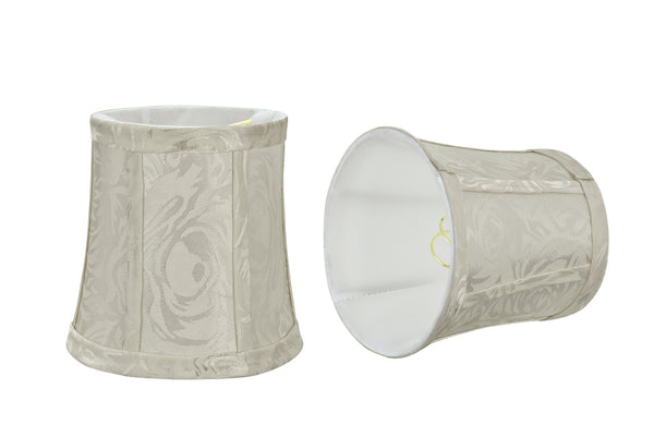 "# 30363-X Small Bell Shape Chandelier Clip-On Lamp Shade Set of 2, 5, 6,and 9, Transitional Design in Off White, 5"" bottom width (4"" x 5"" x 5"")"