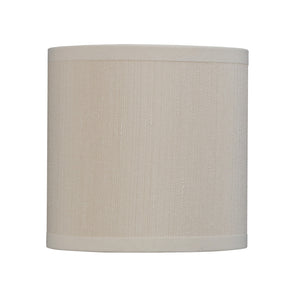 "# 31002 Small Hardback Drum Shape Mini Chandelier Clip-On Shade, Transitional Design, Crème, 5"" bottom width (5"" x 5"" x 5"")"