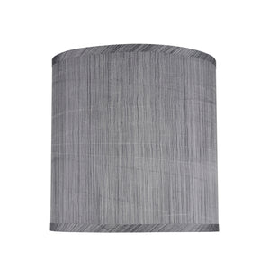 "# 31016 Transitional Hardback Drum (Cylinder) Shape Spider Construction Lamp Shade, Grey/Black, 10"" wide (10"" x 10"" x 10"")"
