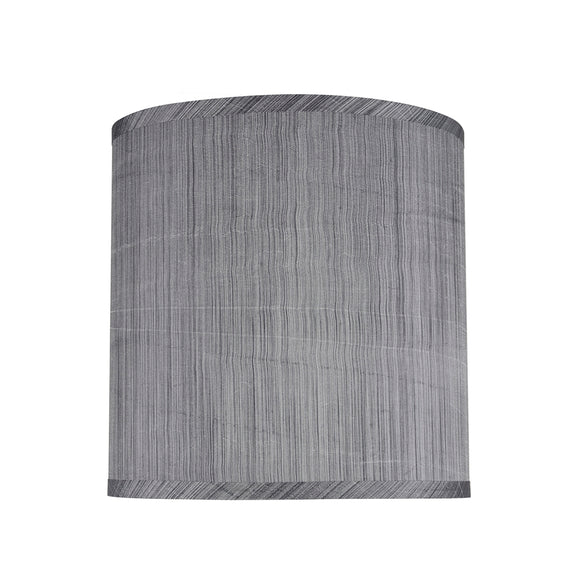 # 31016 Transitional Hardback Drum (Cylinder) Shape Spider Construction Lamp Shade, Grey/Black, 10