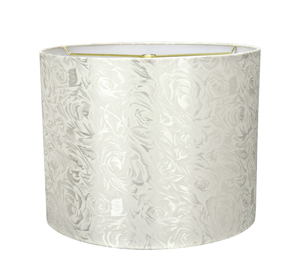 "# 31022 Transitional Hardback Drum (Cylinder) Shape Spider Construction Lamp Shade in Off White, 14"" wide (14"" x 14"" x 11"")"