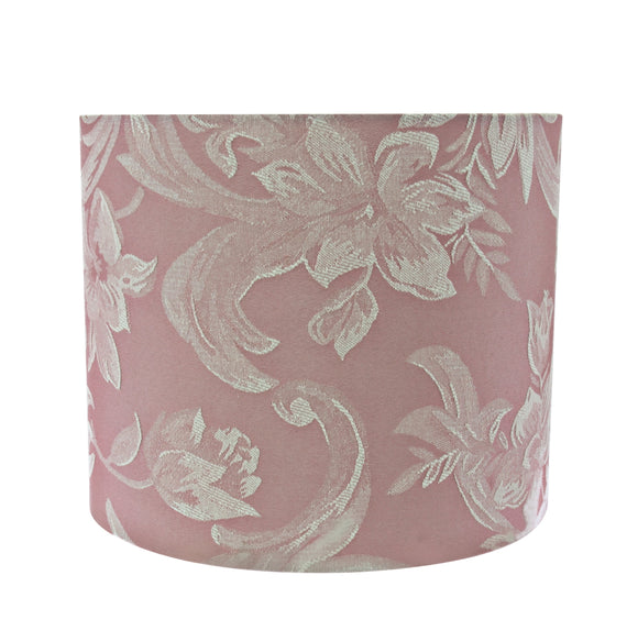 # 31023 Transitional Hardback Drum (Cylinder) Shape Spider Construction Lamp Shade in Pink, 12