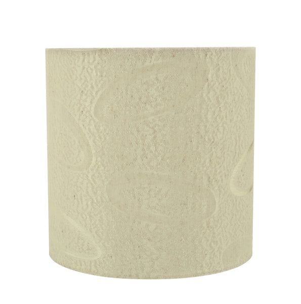 # 31024 Hardback Drum Shaped (spider) Shade in Beige Jacquard Textured Fabric - Aspen Creative Corporation
