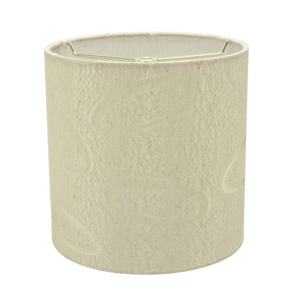 "# 31024 Transitional Hardback Drum (Cylinder) Shape Spider Construction Lamp Shade in Beige Fabric, 8"" wide (8"" x 8"" x 8"")"