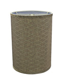 "# 31028 Transitional Hardback Drum (Cylinder) Shape Spider Construction Lamp Shade in Light Brown, 8"" wide (8"" x 8"" x 11"")"