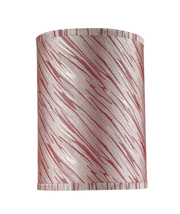 # 31035 Transitional Hardback Drum (Cylinder) Shape Spider Construction Shade, Off-White/Red Striping, 8