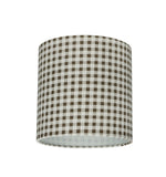 "# 31057 Transitional Drum (Cylinder) Shaped Spider Construction Lamp Shade in Brown, 8"" wide (8"" x 8"" x 8"")"