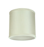 "# 31059 Transitional Drum (Cylinder) Shaped Spider Construction Lamp Shade in Off White, 8"" wide (8"" x 8"" x 8"")"