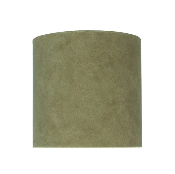 # 31060 Transitional Drum (Cylinder) Shaped Spider Construction Lamp Shade in Dark Khaki, 8