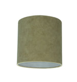 "# 31060 Transitional Drum (Cylinder) Shaped Spider Construction Lamp Shade in Dark Khaki, 8"" wide (8"" x 8"" x 8"")"