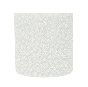 "# 31065 Transitional Drum (Cylinder) Shaped Spider Construction Lamp Shade in White, 8"" wide (8"" x 8"" x 8"")"