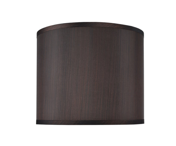 # 31086  Transitional Drum (Cylinder) Shaped Spider Construction Lamp Shade in Black , 12
