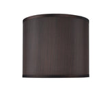 "# 31086  Transitional Drum (Cylinder) Shaped Spider Construction Lamp Shade in Black , 12"" wide (12"" x 12"" x 10"")"