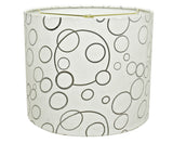 "# 31088 Transitional Hardback Drum (Cylinder) Shaped Spider Construction Lamp Shade in White, 12"" wide (12"" x 12"" x 10"")"