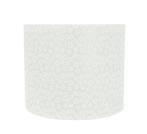 "# 31094 Transitional Drum (Cylinder) Shaped Spider Construction Lamp Shade in White, 12"" wide (12"" x 12"" x 10"")"
