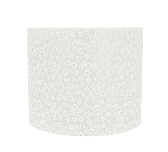 # 31094 Transitional Drum (Cylinder) Shaped Spider Construction Lamp Shade in White, 12