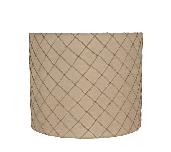 # 31095 Transitional Drum (Cylinder) Shaped Spider Construction Lamp Shade in Beige, 12