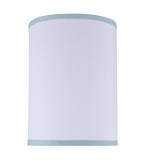 # 31111 Transitional Hardback Drum (Cylinder) Shape Spider Construction Lamp Shade in White, 8