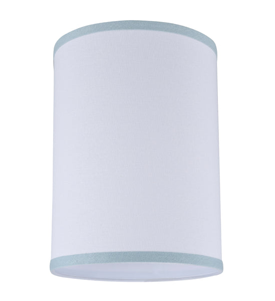"# 31111 Transitional Hardback Drum (Cylinder) Shape Spider Construction Lamp Shade in White, 8"" wide (8"" x 8"" x 11"")"