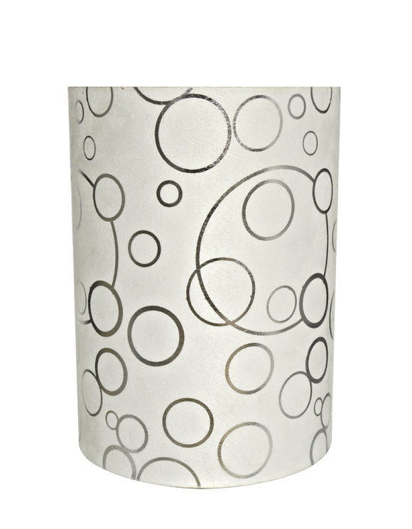 # 31114 Transitional Hardback Drum (Cylinder) Shaped Spider Construction Lamp Shade in White, 8