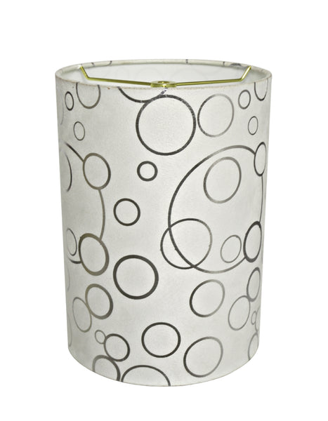 "# 31114 Transitional Hardback Drum (Cylinder) Shaped Spider Construction Lamp Shade in White, 8"" wide (8"" x 8"" x 11"")"