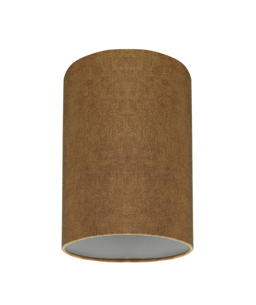 "# 31117 Transitional Hardback Drum (Cylinder) Shaped Spider Construction Lamp Shade in Rusty Red, 8"" wide (8"" x 8"" x 11"")"