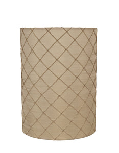 "# 31128 Transitional Drum (Cylinder) Shaped Spider Construction Lamp Shade in Beige, 8"" wide (8"" x 8"" x 11"")"
