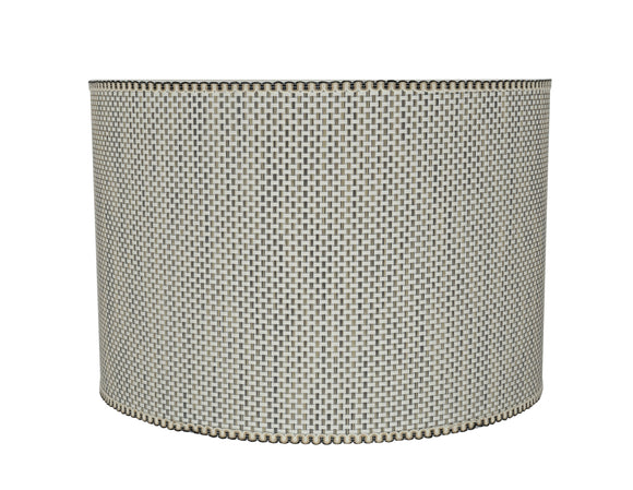 # 31162 Transitional Drum (Cylinder) Shaped Spider Construction Lamp Shade in Beige, 16