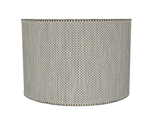 "# 31162 Transitional Drum (Cylinder) Shaped Spider Construction Lamp Shade in Beige, 16"" wide (16"" x 16"" x 11"")"